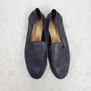 Lucky Brand Black Cahill Leather Loafer Flats